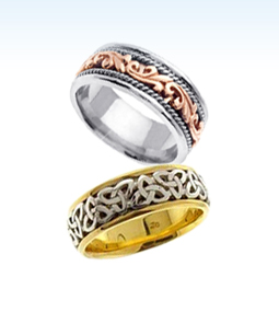 celtic wedding bands, gold celtic wedding bands