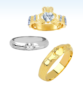 claddagh wedding bands, irish wedding rings