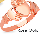 rose gold claddagh rings, gold claddagh rings