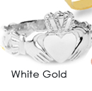 white gold claddagh rings, gold claddagh rings