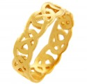 Gold Quadrum Trinity Ring for Men
