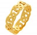 Gold Quadrum Trinity Ring for Men