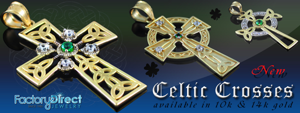 Gold Celtic Diamond Crosses