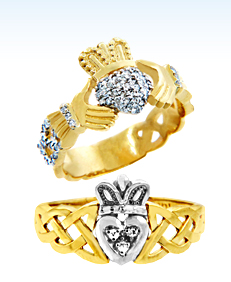 diamond claddagh rings