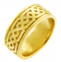 Women's Celtic Band - Yellow Gold Celtic Knot Ring