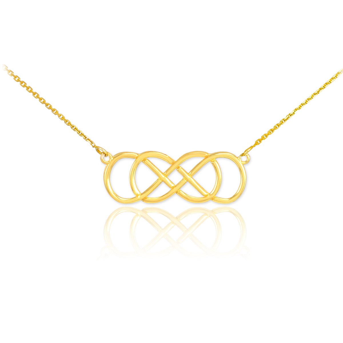 Valentines day gift ideas infinity symbol necklaces factory 14k gold double knot infinity necklace biocorpaavc Image collections