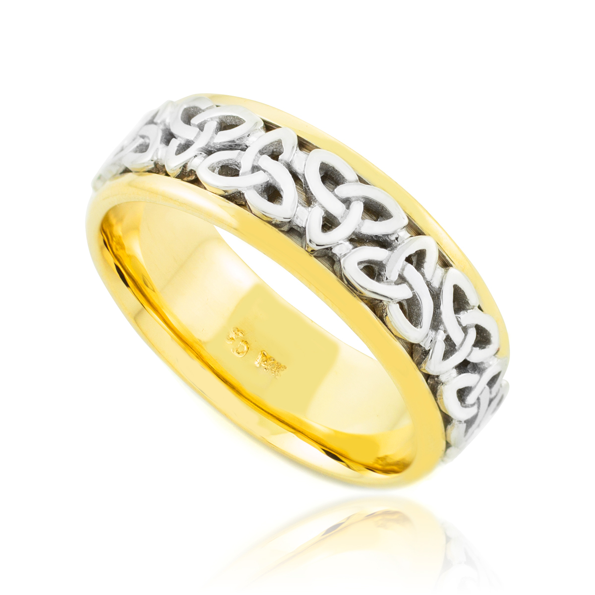 Bit By Bit Celtic Wedding Rings Factory Direct Jewelry